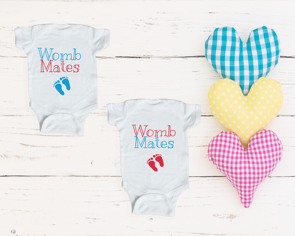 Baby Onsesies-  Womb Mates (Twin Set)