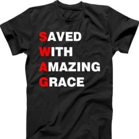 Men's Tee- SWAG (saved with amazing grace)