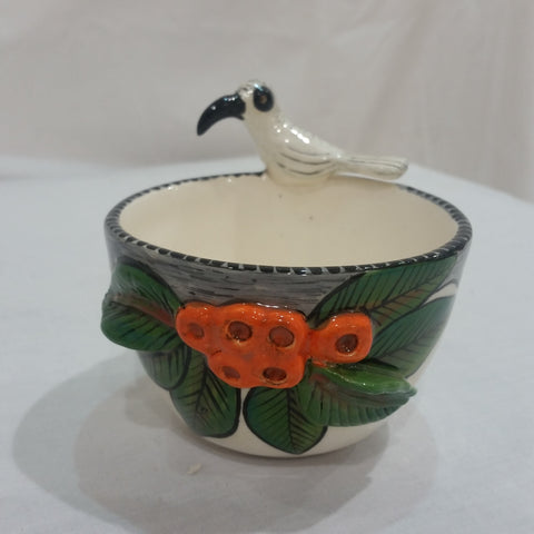 Bowl - Bird with Orange Flowers