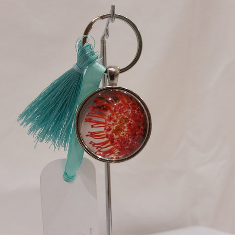 Keyrings - Pin or Pincushion Protea