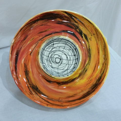 Bowl - Black, White and Orange