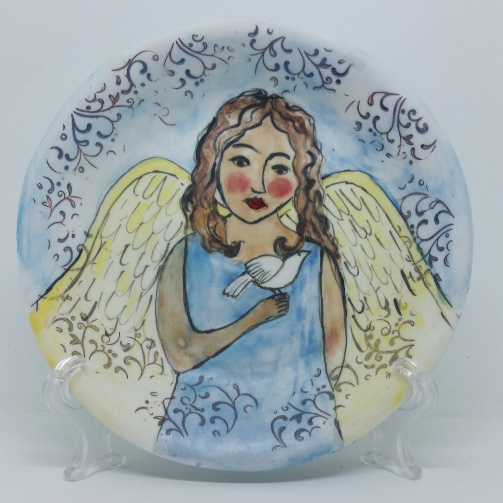 Plate - Angel and Dove