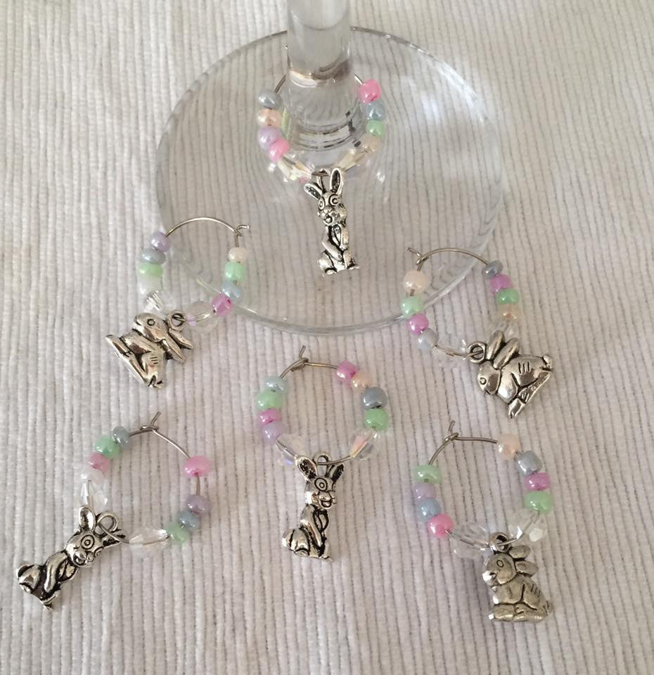 Wine Glass Charms - Easter
