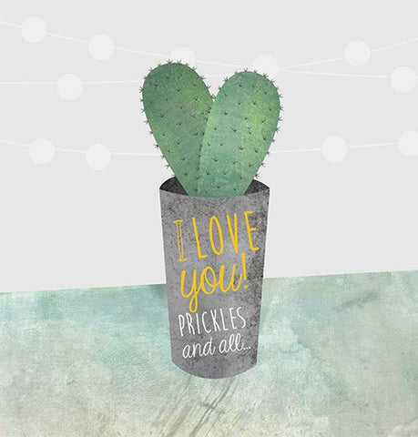 Card - I love you! Prickles and all