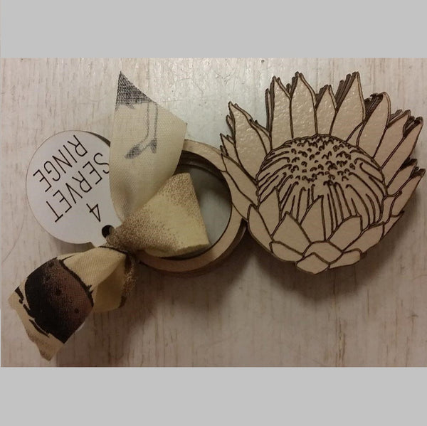Serviette Rings/ Holders - Protea