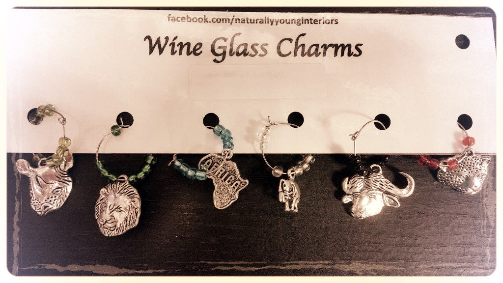 Wine Glass Charms - Africa