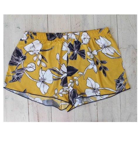 Sleep Shorts/ Boxers - Mustard Weekend