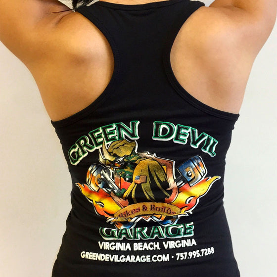 BIKES & BUILDS WOMEN'S FITTED TANK TOP