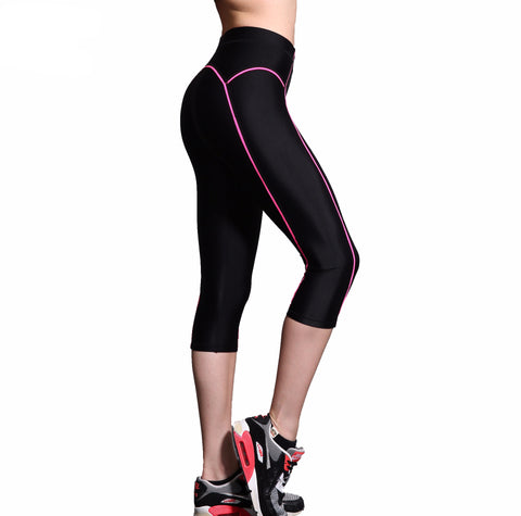 Fitness High Elasticity Cropped Leggings