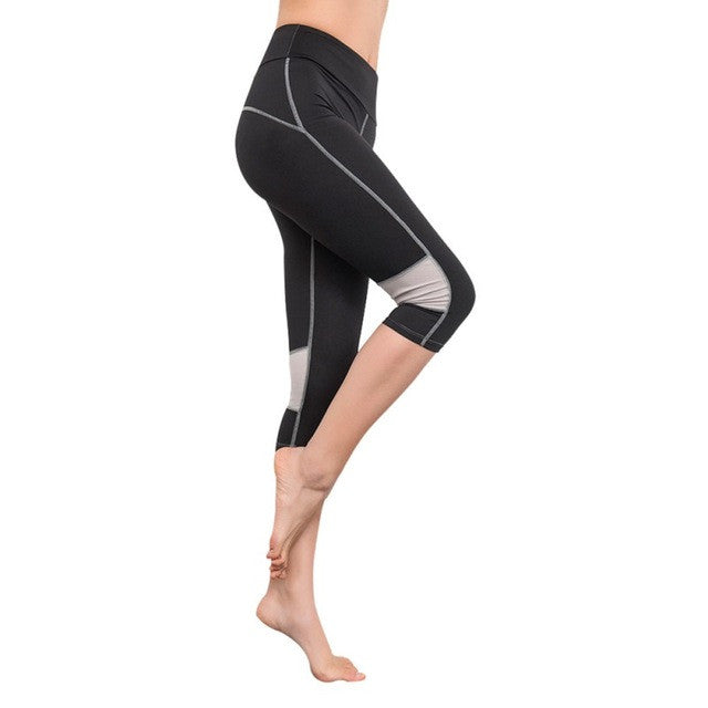 Sports Capris High Elastic Slim Stretch Workout Pants