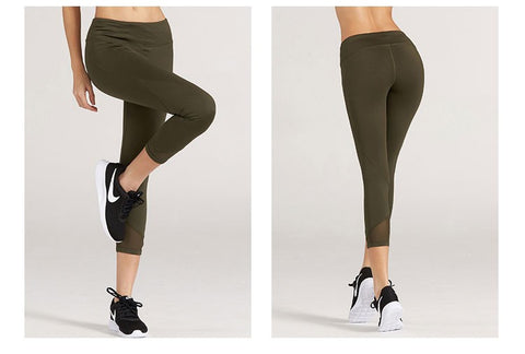 Fitness Quick Dry compression half-rising legging