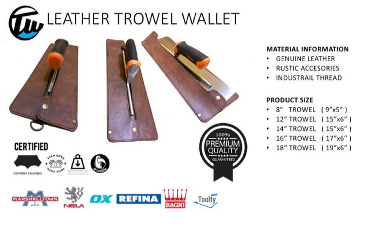 leather trowel wallets ( Genuine Leather )