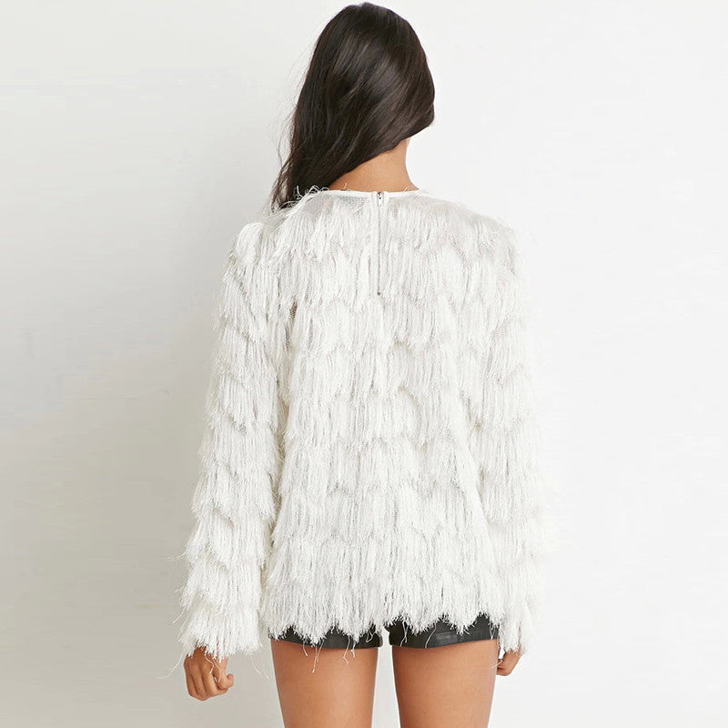 Tassel Loose wave Pullovers,  - By Classier