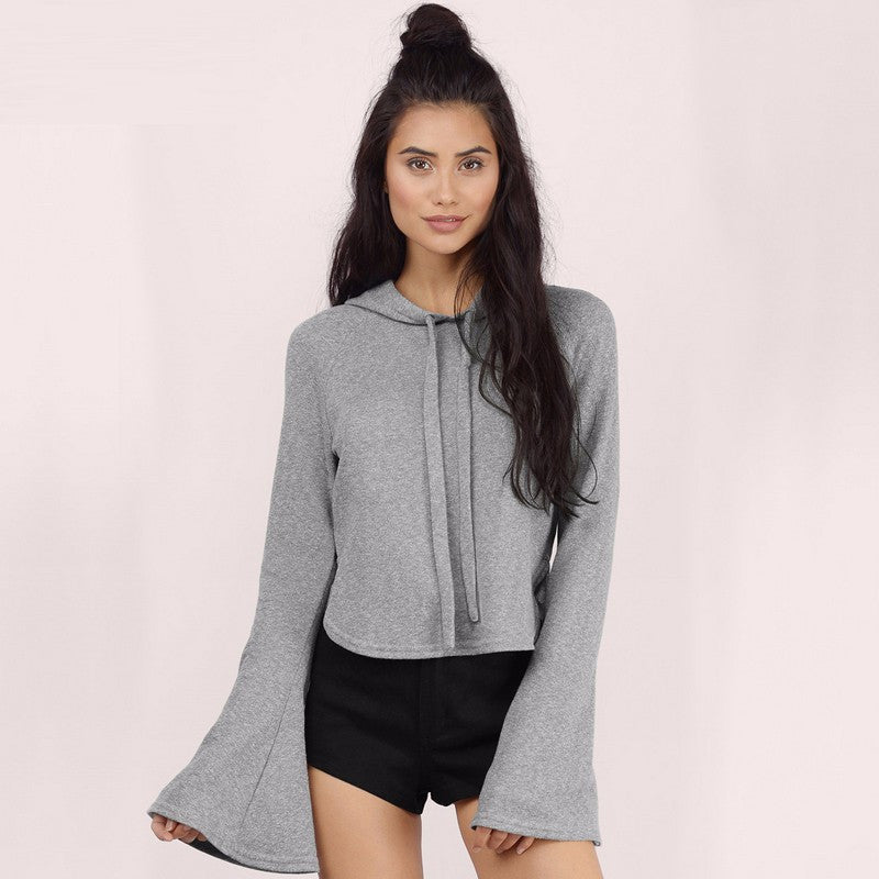 Solid Gray Slim Casual Sweatshirt,  - By Classier