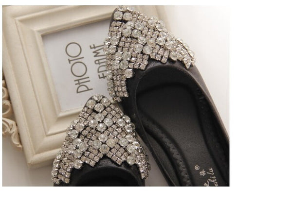 Crystal Ballet Rhinestone Boat Shoes