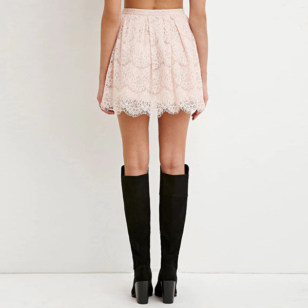 Pink Brief Cute Casual Skirts,  - By Classier