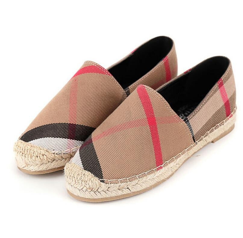 Line Cross Flat Shoes,  - By Classier