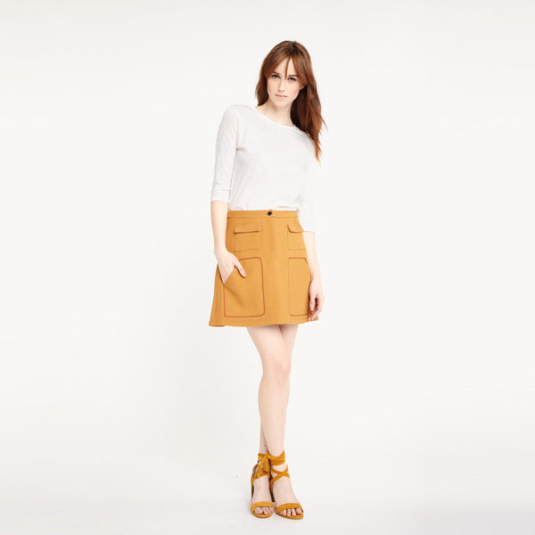 Pockets High Waist A-line Skirts,  - By Classier