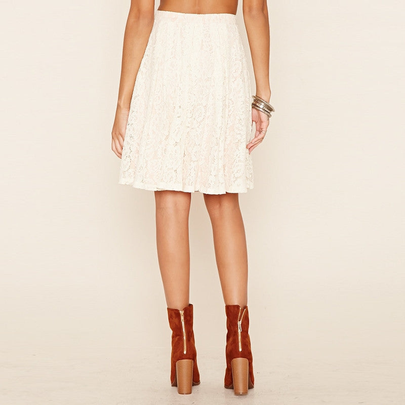 Elegant Solid White Slim Casual Skirts,  - By Classier