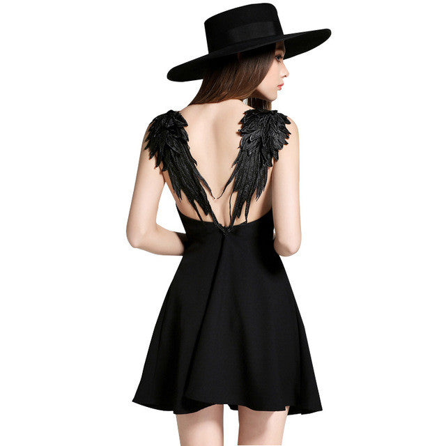 Lace Angle Wings Evening Dress, Dresses - By Classier