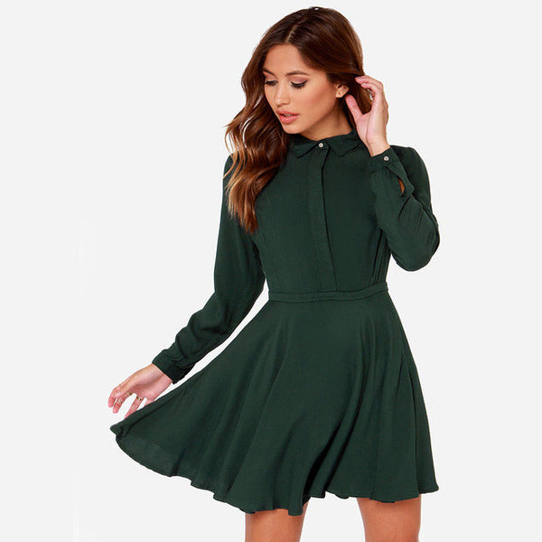 Slim A-line Shirt Dress BF Style, Dresses - By Classier
