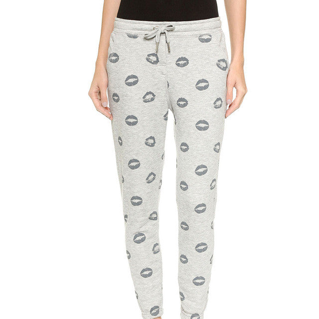 Print Drawstring Pants,  - By Classier