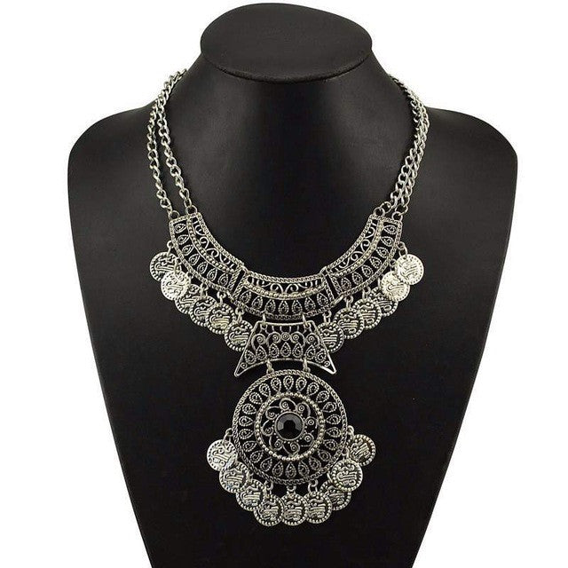 Collier Ethnic Silver/gold Short Necklace