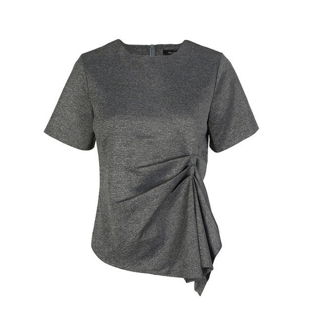 Short Sleeve O-Neck Solid Casual T-shirt,  - By Classier