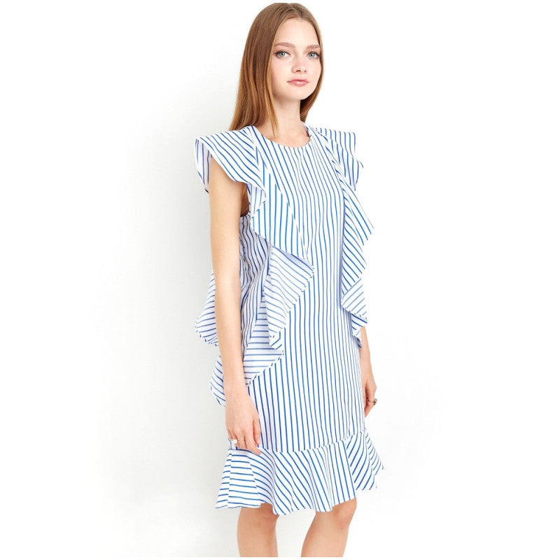 Striped Cute Straight Dress, Dresses - By Classier