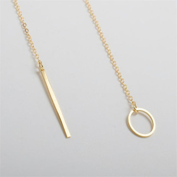 Exquisite O through Golden Lariat Necklace