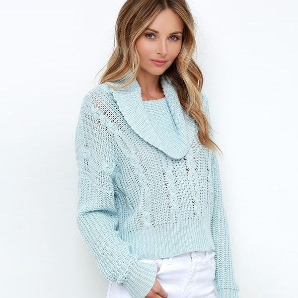 Long Sleeve Solid Loose Sweater,  - By Classier