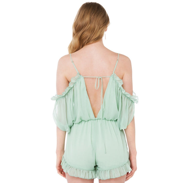 Backless Strap Rompers Sweet Style Light Green,  - By Classier