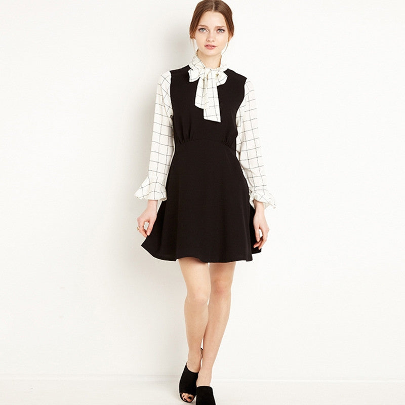 Cute O-Neck Ruffles Patchwork Dress, Dresses - By Classier