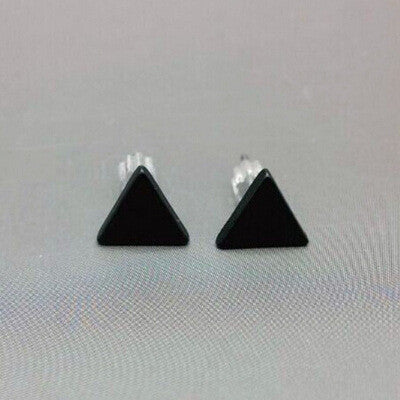 Modern Devine black Silver Color Patterned Earrings,  - By Classier