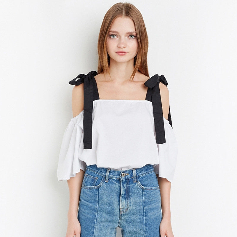 Casual Off-Shoulder Cute Blouse,  - By Classier