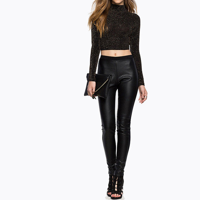 Black Slim High Waist Trousers,  - By Classier
