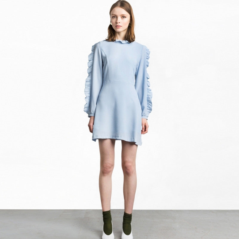 Solid Blue Loose Mini Dress, Dresses - By Classier