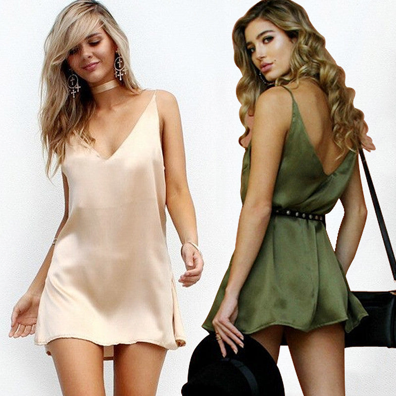 Leisure Halter Loose Mini Dress