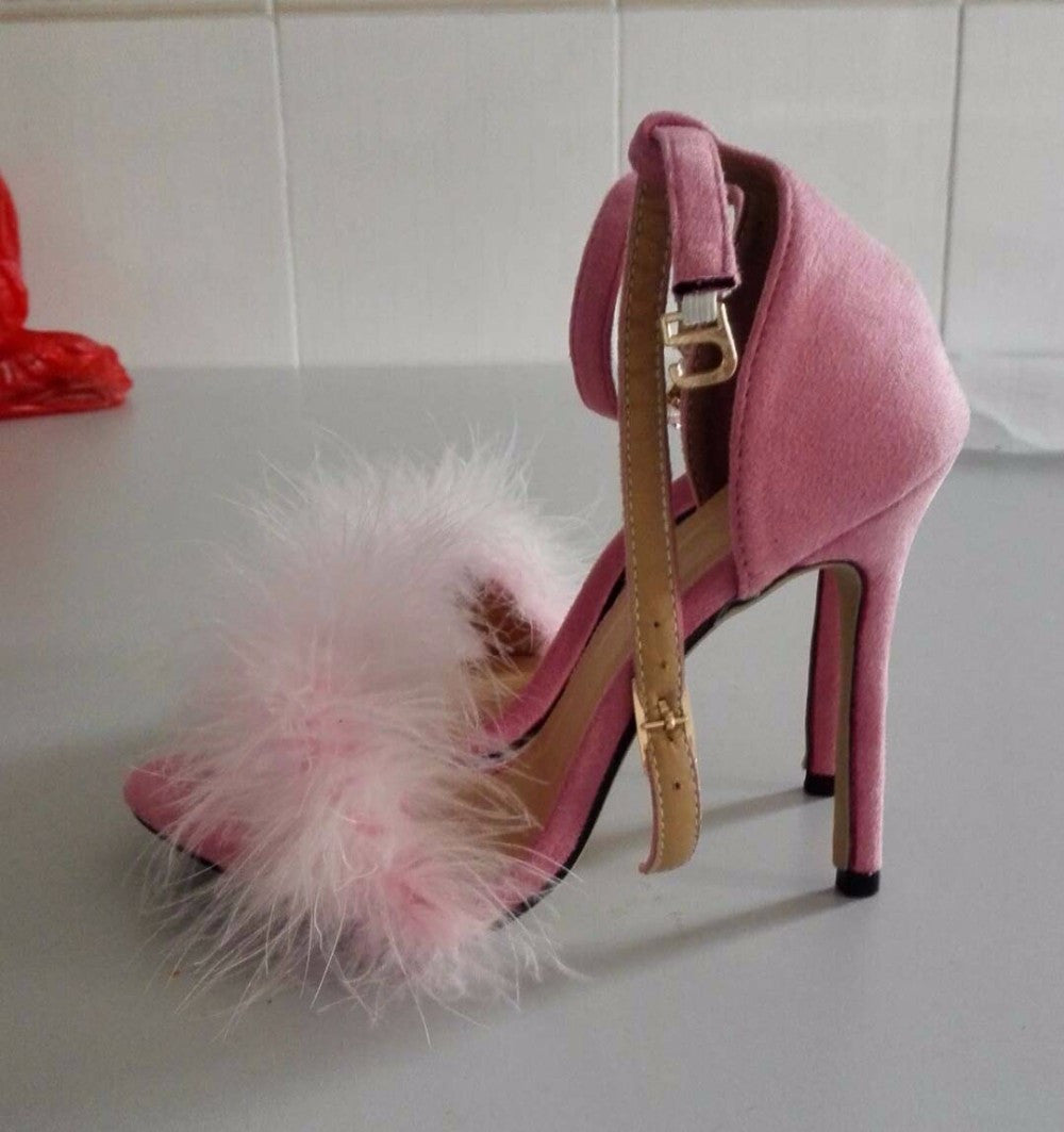 Fur High Thin Women Heels