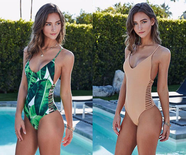 Monokini Cut out One piece Bathing suit