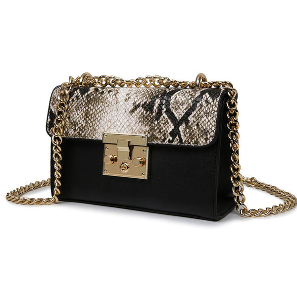 Snake Fashion leather brand designer bag