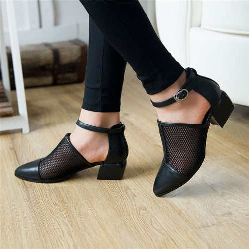 Cut Out Mesh Flat Shoes,  - By Classier