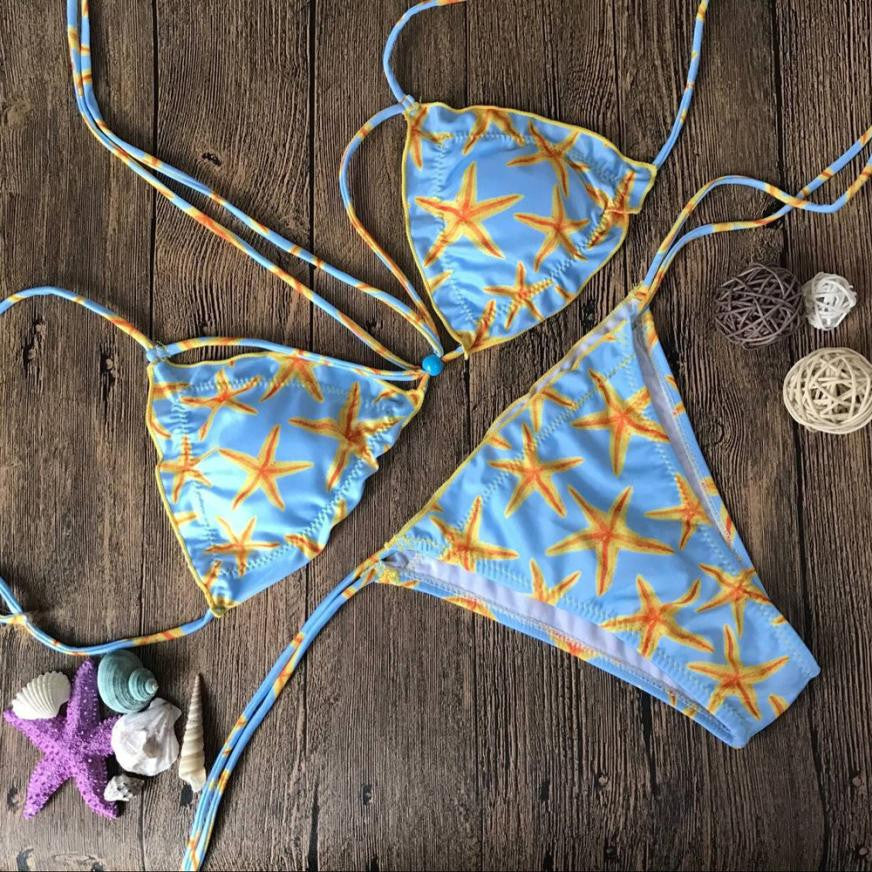 Printed Starfish Padded Bathing Suit