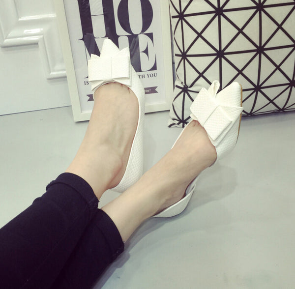 Comfortable Slip on Bow Ballet Flats