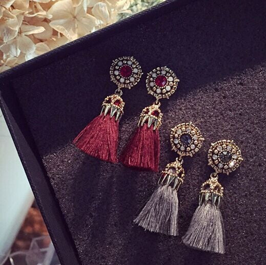 Vintage Statment Flower Ancient Earrings,  - By Classier