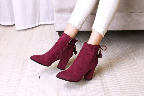 Bow Tie Ankle Boots,  - By Classier