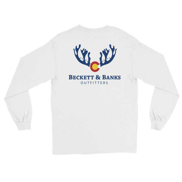 """A Colorado Vibe"" Adult Long Sleeve T-Shirt - Beckett & Banks Outfitters"
