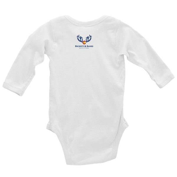 """Seas The Day/Colorado Boy""Infant Long Sleeve Bodysuit - Beckett & Banks Outfitters"