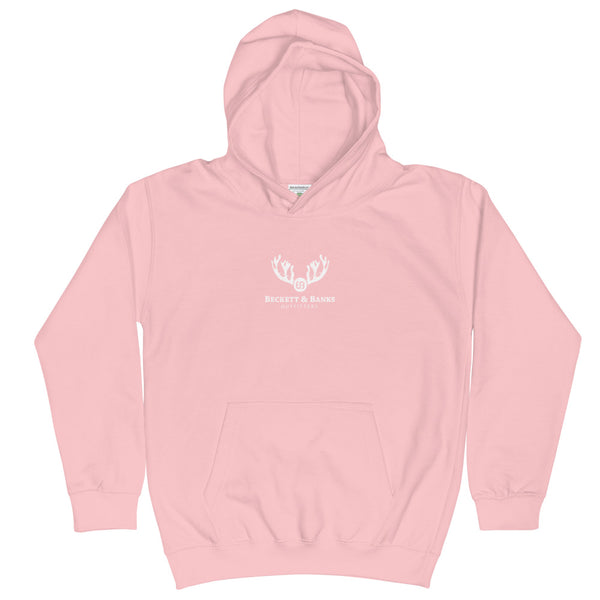 Kids Distressed Trout & Tines Hoodie - Beckett & Banks Outfitters
