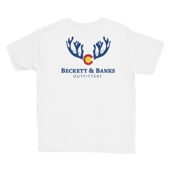 """A Colorado Boy"" Youth Short Sleeve T-Shirt - Beckett & Banks Outfitters"